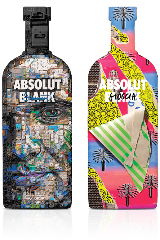 diseños packaging vodka absolut 19