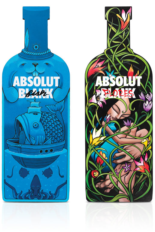 diseños packaging vodka absolut 20