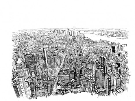 Video: Impresionante time lapse de Patrick Vale dibujando Manhattan