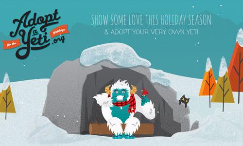 01 adoptayeti 10 Ilustraciones creativas utilizas diseños web