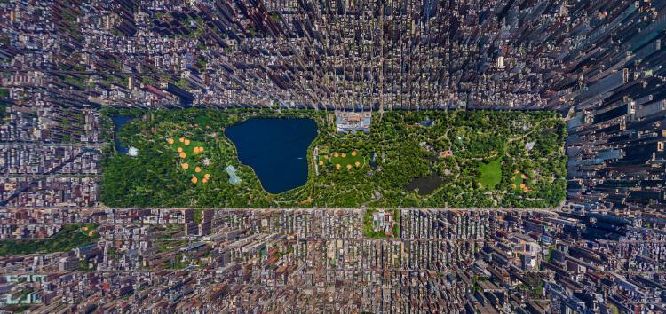 Impresionante fotografía area de Nueva York en 3D