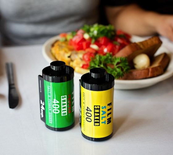Recipientes de sal y pimienta para fotógrafos