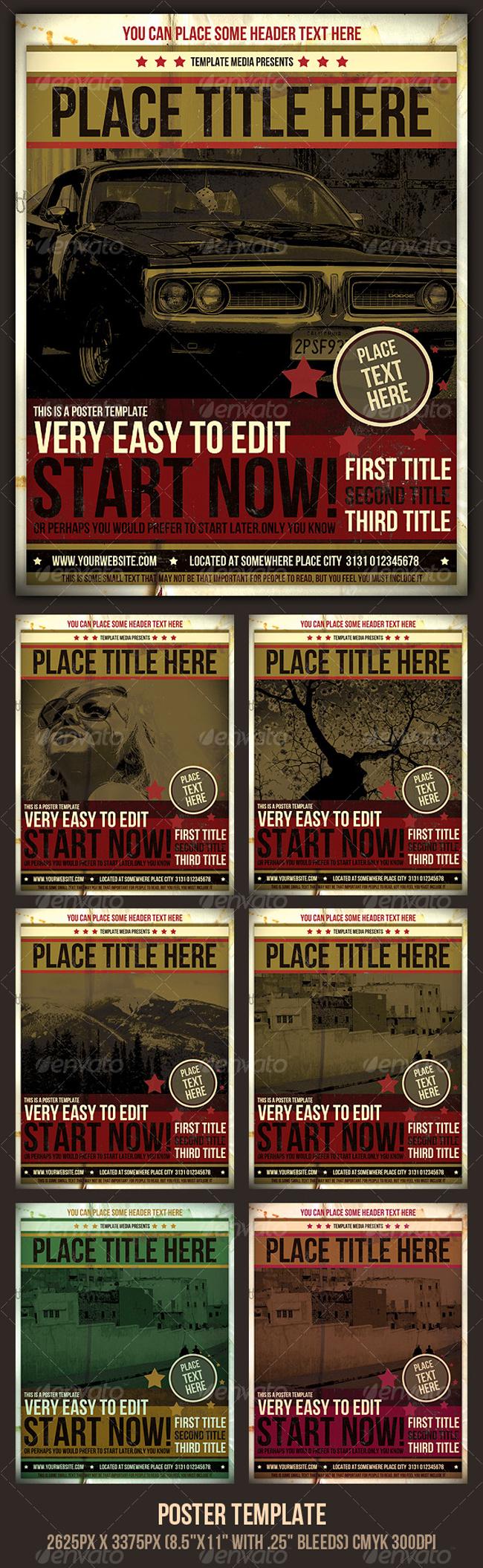 Poster Templates  10 Diseños de Posters Increibles