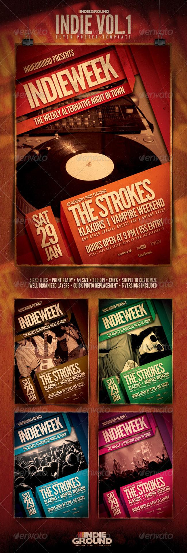 Poster Templates 2 10 Diseños de Posters Increibles
