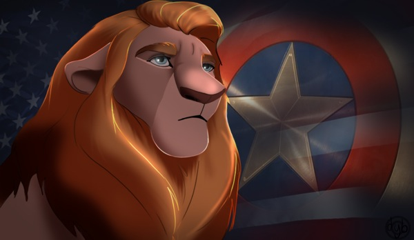 The-Lion-King-Avengers-Captain-America
