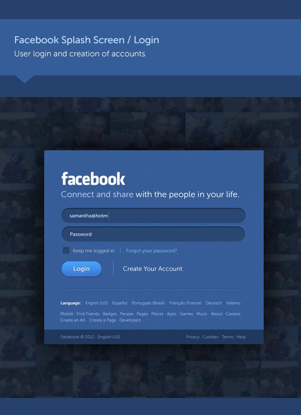 concepto de diseño facebook 1 Excelente concepto de diseño para Facebook por Fred Nerby