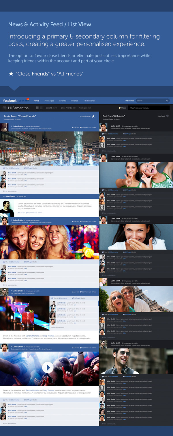 concepto de diseño facebook 4 Excelente concepto de diseño para Facebook por Fred Nerby