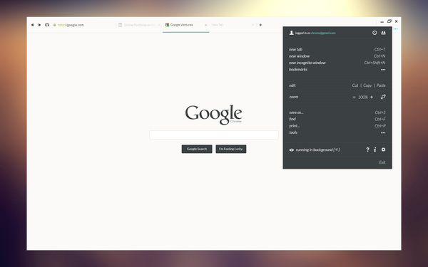 concepto diseño ui google chrome 2