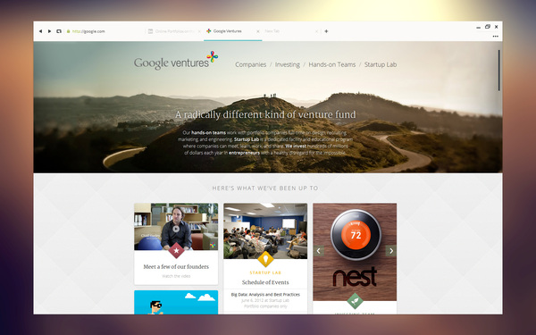 concepto diseño ui google chrome 4