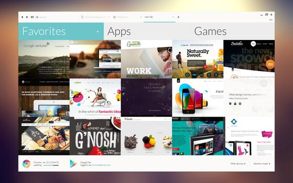 concepto diseño ui google chrome 5 Concepto de diseño UI para Google Chrome