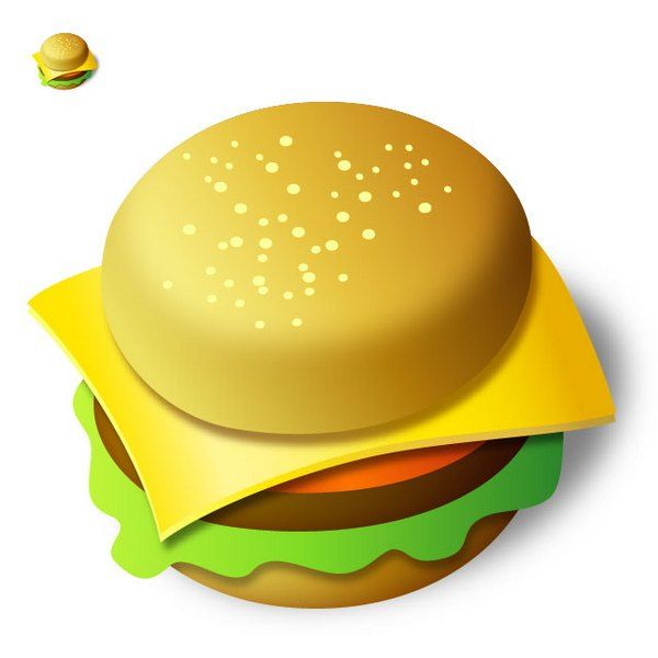 create a tasty burger icon in illustrator Tutoriales Adobe Illustrator gratis