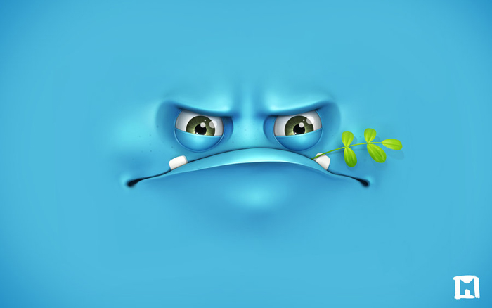 grumpy wallpaper by melaamory d5oj52e 6 Wallpapers coloridos, creativos y divertidos