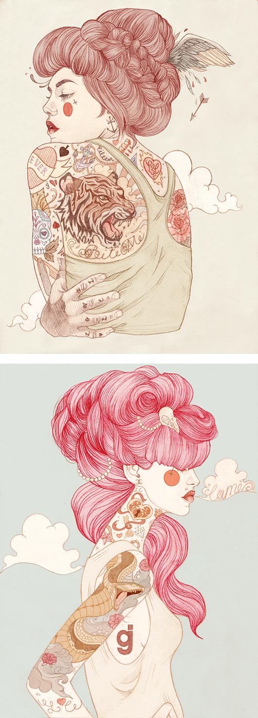 ilustraciones tatuadas liz clements 1