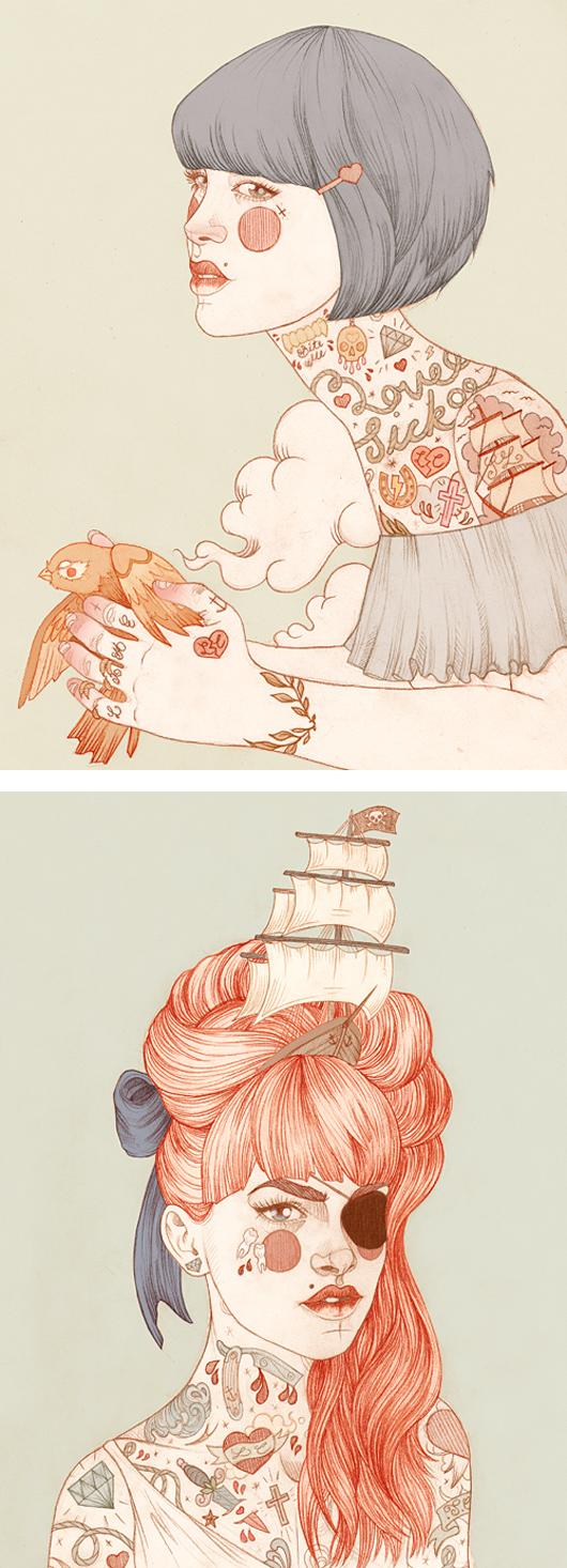 ilustraciones tatuadas liz clements 3