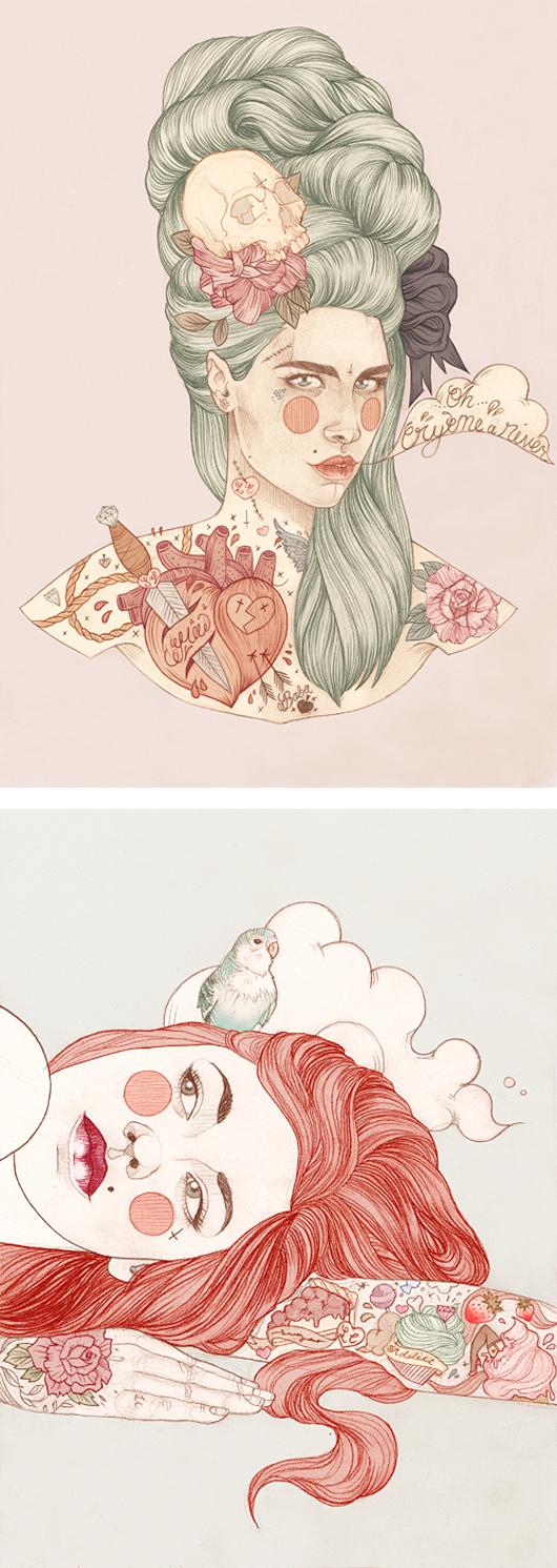 ilustraciones tatuadas liz clements 7