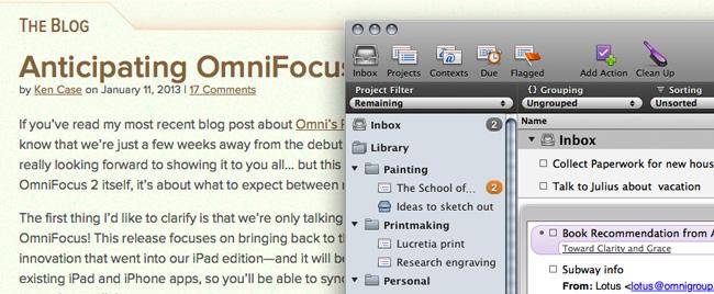 omni Descarga OmniFocus para Mac con licencia gratis temporalmente