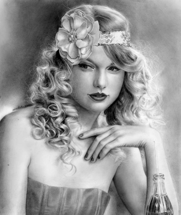 taylor swift by Elvis882600 711 Impresionantes dibujos realistas hechos con lápiz por Callie Fink