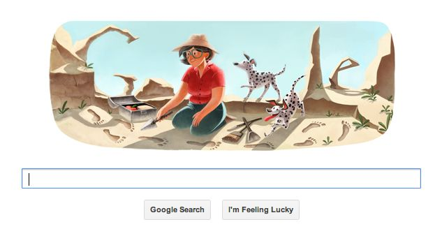 Captura de pantalla 2013 02 06 a las 09.06.08 1 Google Doodle en honor al 100 aniversario de Mary Leakey