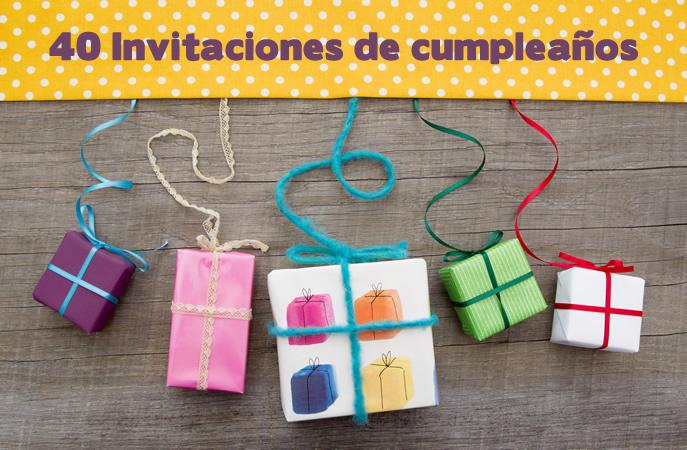 invitaciones de cumpleaños 40 Hermosos diseños de invitaciones para cumpleaños