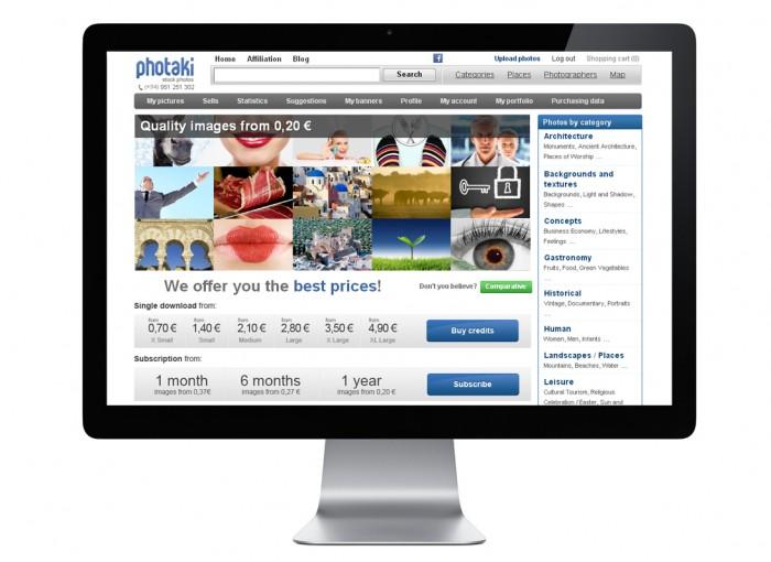 photaki home e1360274766320 Photaki, compra y gana dinero con tus diseños y fotografías