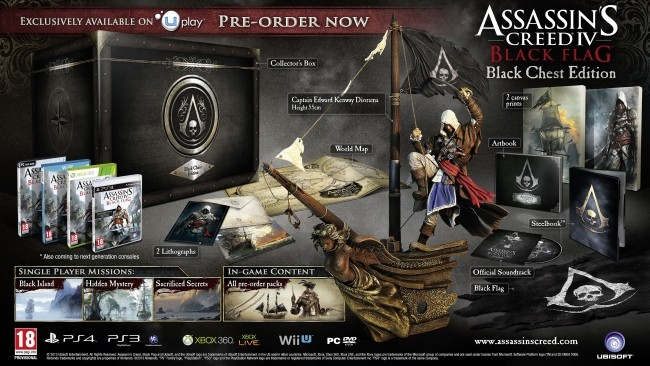 Assassins Creed IV Black Flag Black Chest Edition
