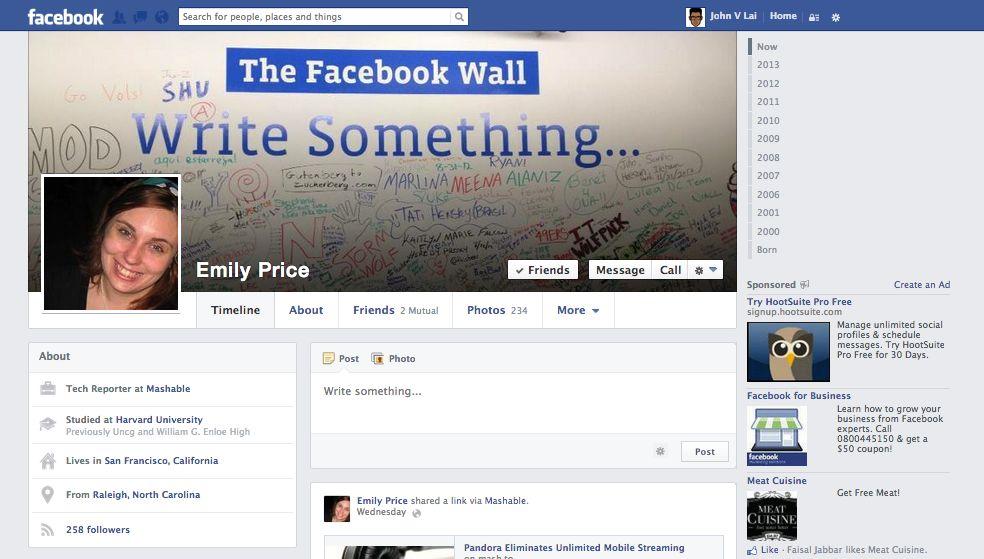 imagenes nuevo facebook 2013 1 1 Más cambios en Facebook, imagenes del nuevo Timeline