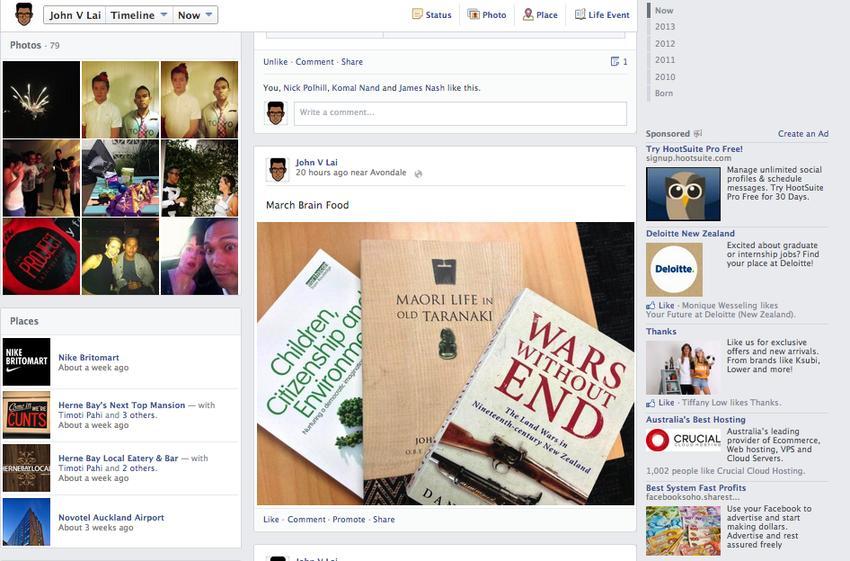 imagenes nuevo facebook 2013 5 Más cambios en Facebook, imagenes del nuevo Timeline
