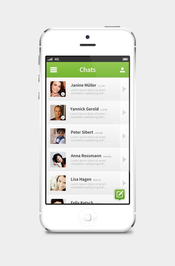 concepto de diseño ui whatsapp chats 1 Concepto de diseño de interface para WhatsApp