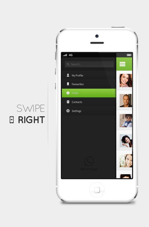 concepto de diseño ui whatsapp menu