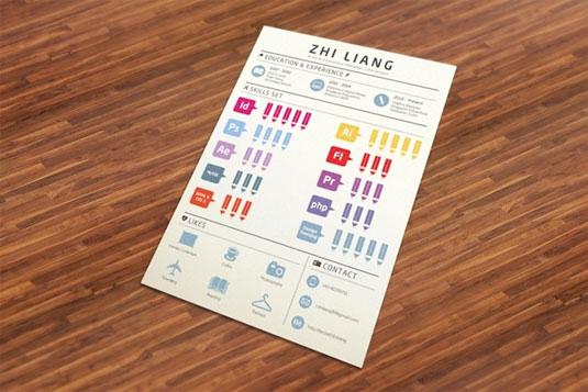 curriculum infografia Inspiración: Diseño de curriculum con formato de infografía