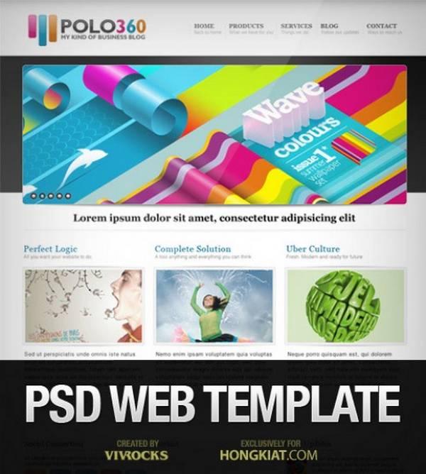 portfolio website psd 10 Plantillas PSD para portafolios en linea