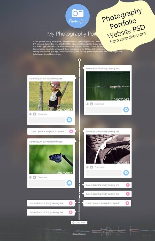 portfolio website psd 2 Plantillas PSD para portafolios en linea