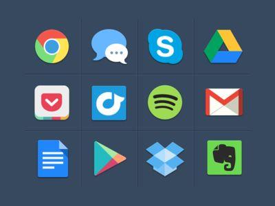 Iconos coloridos por Michael Dolejš