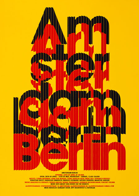 Amsterdam-Berlin silkscreened
