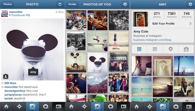 capturas de pantalla nueva función instagram