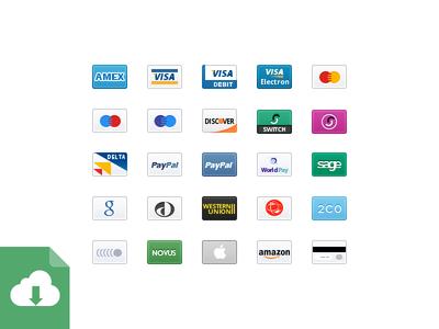 Iconos de tarjetas de credito