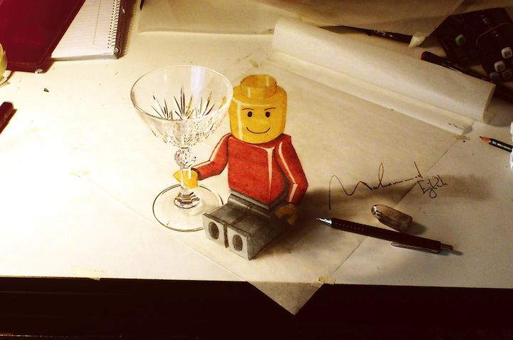dibujos 3D que salen de las hojas 1 Impresionantes dibujos 3D a lápiz que se salen del papel