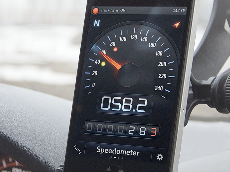 diseños de interfaces speed tracker