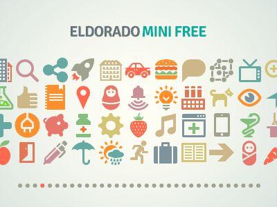 Iconos minimalistas de El Dorado por IcoJam