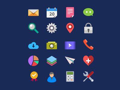 Iconos planos por GraphicsFuel