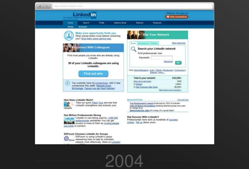 linkedin en 2004
