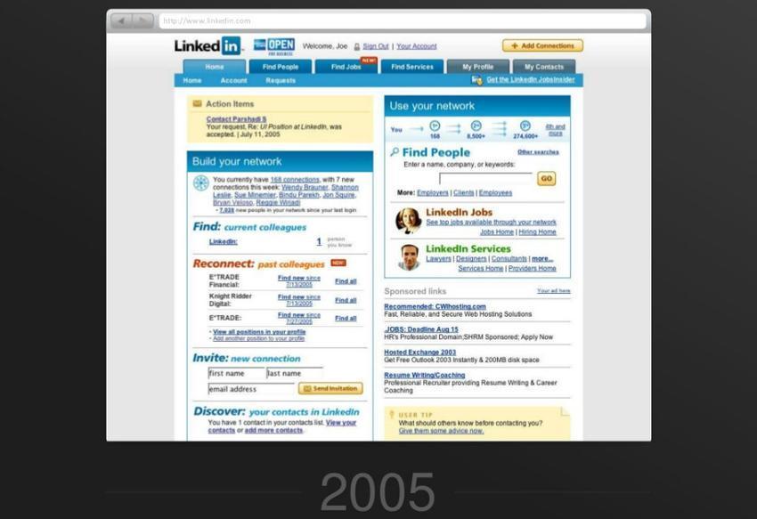 linkedin en 2005