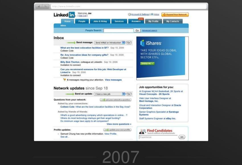 linkedin en 2007