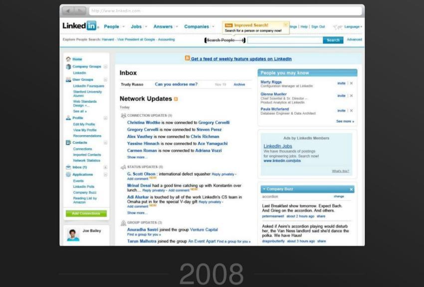 linkedin en 2008