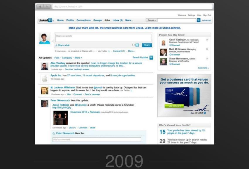 linkedin en 2009
