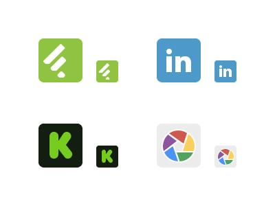 Iconos minimalistas de redes sociales por Gavin Elliott