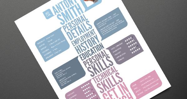 plantilla curriculum creativo
