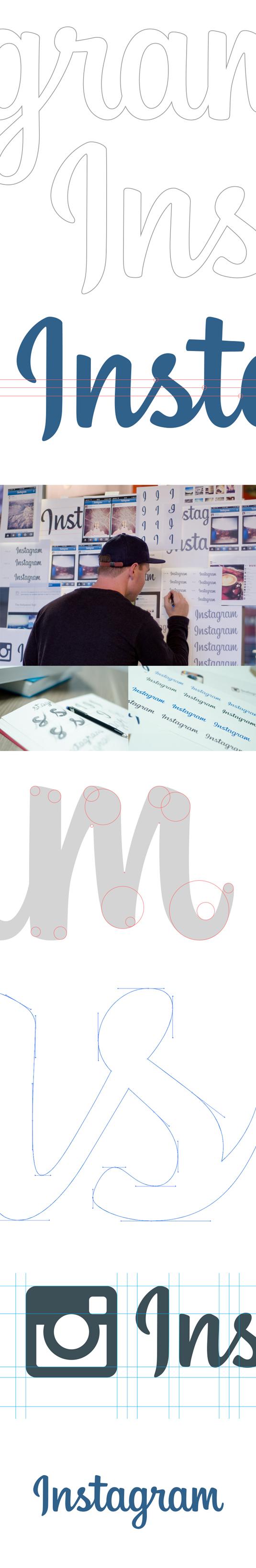 proceso diseño logo instagram