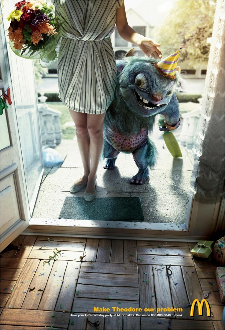 publicidad creativas mcdonalds monsters