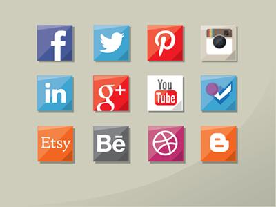 Iconos de redes sociales por Tim Degner